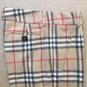 Cropped Burberry pants